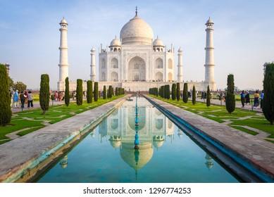 (Public place) Taj Mahal : UNESCO World Heritage at Agra, India