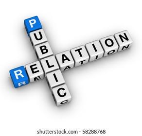 Public Relation (blue-white cubes crossword series)