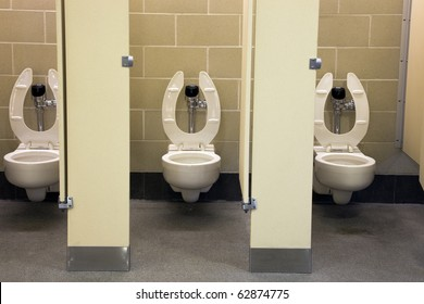 Public restroom in the center of city