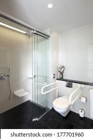 public restroom for disabled people