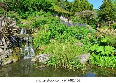 A public rock garden in Brighton, Sussex on a spring morning.