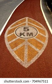 a public running Track with a 5 km distance.