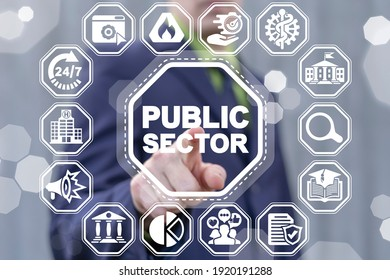 Public Sector Government People Business Concept. Online Internet Social Services.