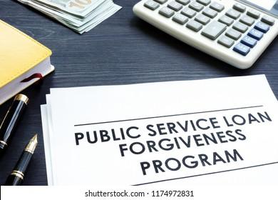 Public Service Loan Forgiveness PSLF Program documents.