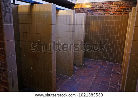 Public Shower Cubicles Beach Showers Bathroom Stock Photo (Edit Now ...