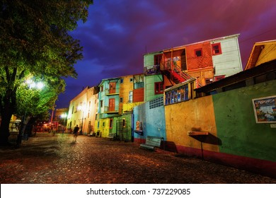 Public Square in La Boca, Buenos Aires, Argentina. Taken during sunset on April 9th 2015.