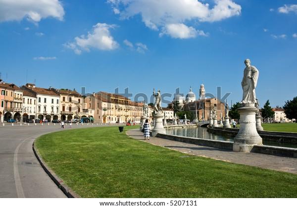 "Public Square ""Prato della valle"" (Meadow valleys). Padua. Italy."
