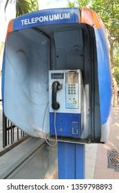 public telephone really helped the community to communicate (surabaya October 20, 2013)