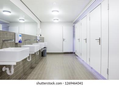 in a public toilet