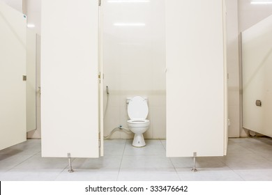 an public toilet in an public building