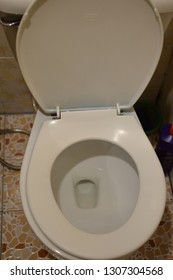 Public toilet flushing