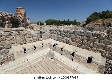 Public Toilets of Ephesus Ancient City, Izmir City, Turkey