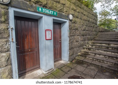 Public toilets in Torshavn / Faroe islands / Torshavn / 12 sept 2018.