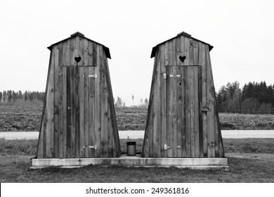 public toilets in the village
