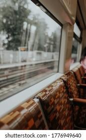 Public transport seats on London overground train