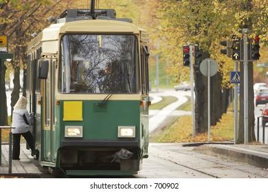 Public transport vehicle in Helsinki.