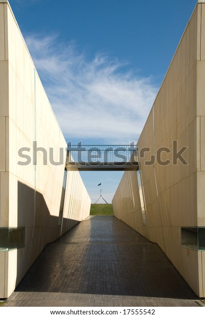 A public walkway situated near the High Court building in Canberra, Australian Capital Territory, Australia