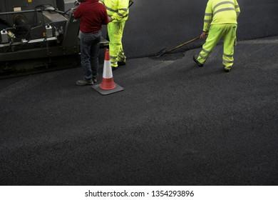 Public work. Street paving repair work.