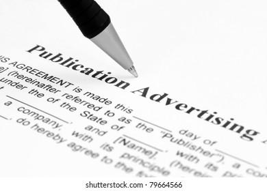Publication advertising
