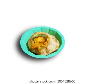 puchka paanipuri golgappa isolated on white background