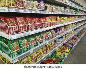 Puchong, Selangor, Malaysia 25th. July 2018 - Curry powder on the shelf for sale, photo taken at Hero Supermarket, Puchong