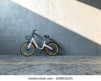 Puchong, Selangor, Malaysia- March 5, 2018; View of shared bicycles in Singapore. The main bike sharing companies are Ofo, Mobike and Obike.