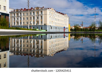 Puddle City Reflection, Norilsk, August 11 2018