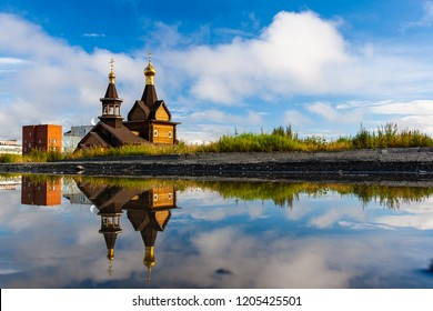 Puddle City Reflection, Norilsk, August 2018