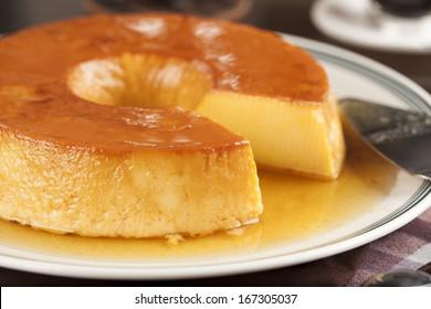 Pudim, a delicious brazilian dessert, made from condensed milk.