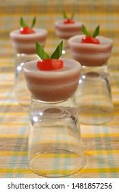 Puding coklat lapis vanila or chocolate pudding with vanilla layer