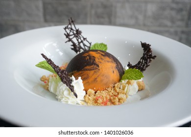 puding panna cotta with chocolate