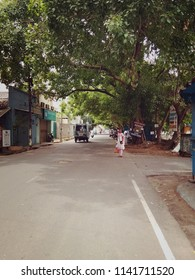 PUDUCHERRY, CHENNAI, INDIA. JUNNE 7, 2018. The photo of roads with trees in puducherry, in the afternoon. PUDUCHERRY ,CHENNAI.