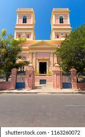 Puducherry, India - August 22, 2018 : Pondicherry Museum at Podicherry India