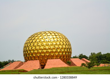 "Puducherry, India - September 30, 2017: ""Mantrimandir"", an edifice of spiritual significance for practitioners of Integral yoga, at Auroville in Puducherry, India."