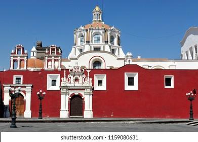 Puebla Cathedral, a Roman Catholic church in the city of Puebla, Mexico.