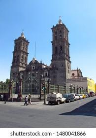 Puebla / Mexico - 02 Mar 2011: The Catedral de Puebla in Mexico