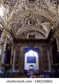Puebla / Mexico - 02 Mar 2011: The church Of Santo Domingo, Puebla, Mexico