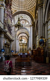 Puebla, Mexico - 05/25/2017: Puebla's Cathedral interior