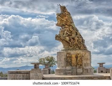 Puebla, Mexico, circa November 2016 : Cinco de Mayo Victory monument in Puebla, Mexico