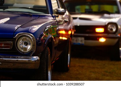 Puebla, Mexico - March 03.2018.The Ford Maverick was a compact muscle car that was manufactured by Ford from April 1969 to 1977 in the United States, Venezuela, Canada and Mexico
