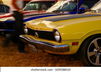 Puebla, Mexico - March 03.2018.The Ford Maverick is a compact muscle car that was manufactured by Ford from April 1969 to 1977 in the United States, Venezuela, Canada and Mexico
