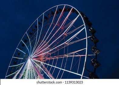 Puebla, Pue. / Mexico - ca. 2014: Observation wheel of Puebla, also known as La Estrella de Puebla (Star of Puebla) was inaugurated in 2013. Is currently the tallest observation wheel in North America