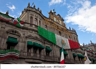 Puebla's Zocalo, Mexico.