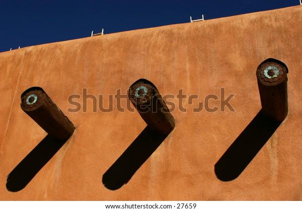 Pueblo house wall.