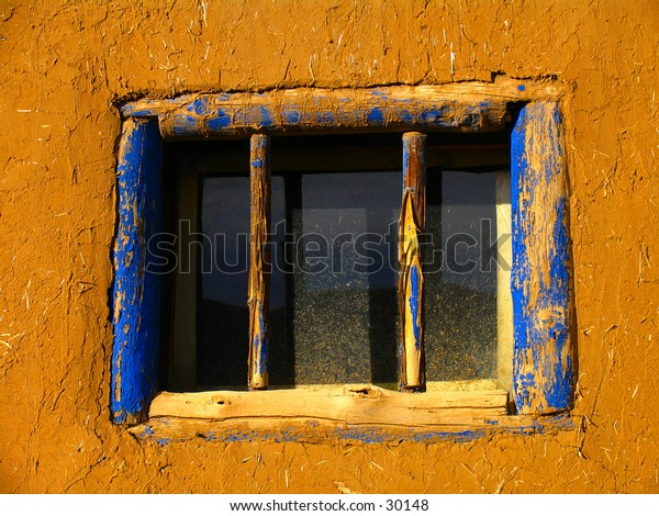 Pueblo house window.