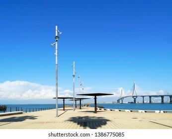 Puente de la Constitucion, called La Pepa, in the bay of Cadiz, Andalusia. Spain. Europe