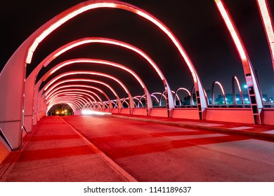 Puente del Bicentenario (Bicentenary Bridge) at night - Cordoba, Argentina
