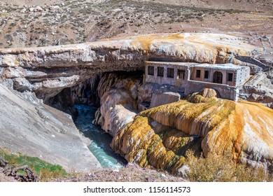 Puente del Inca or Inca Bridge near Cordillera de Los Andes - Mendoza Province, Argentina