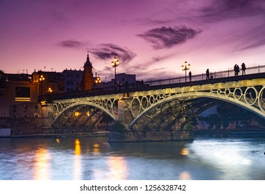Puente del Triana at Sunset - Seville, Spain