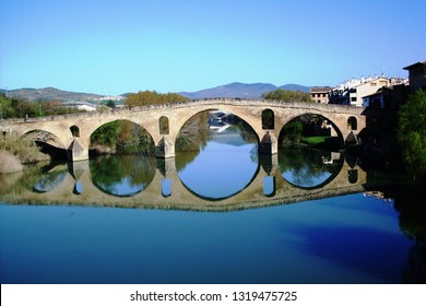 Puente la Reina where the   Camino Aragones joins the Camino Frances. (Navarra)